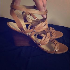 Ivanka Trump Brown Sandal Wedges
